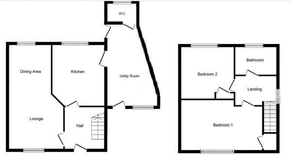 2 bed house for sale in Caynham Road - Property Floorplan