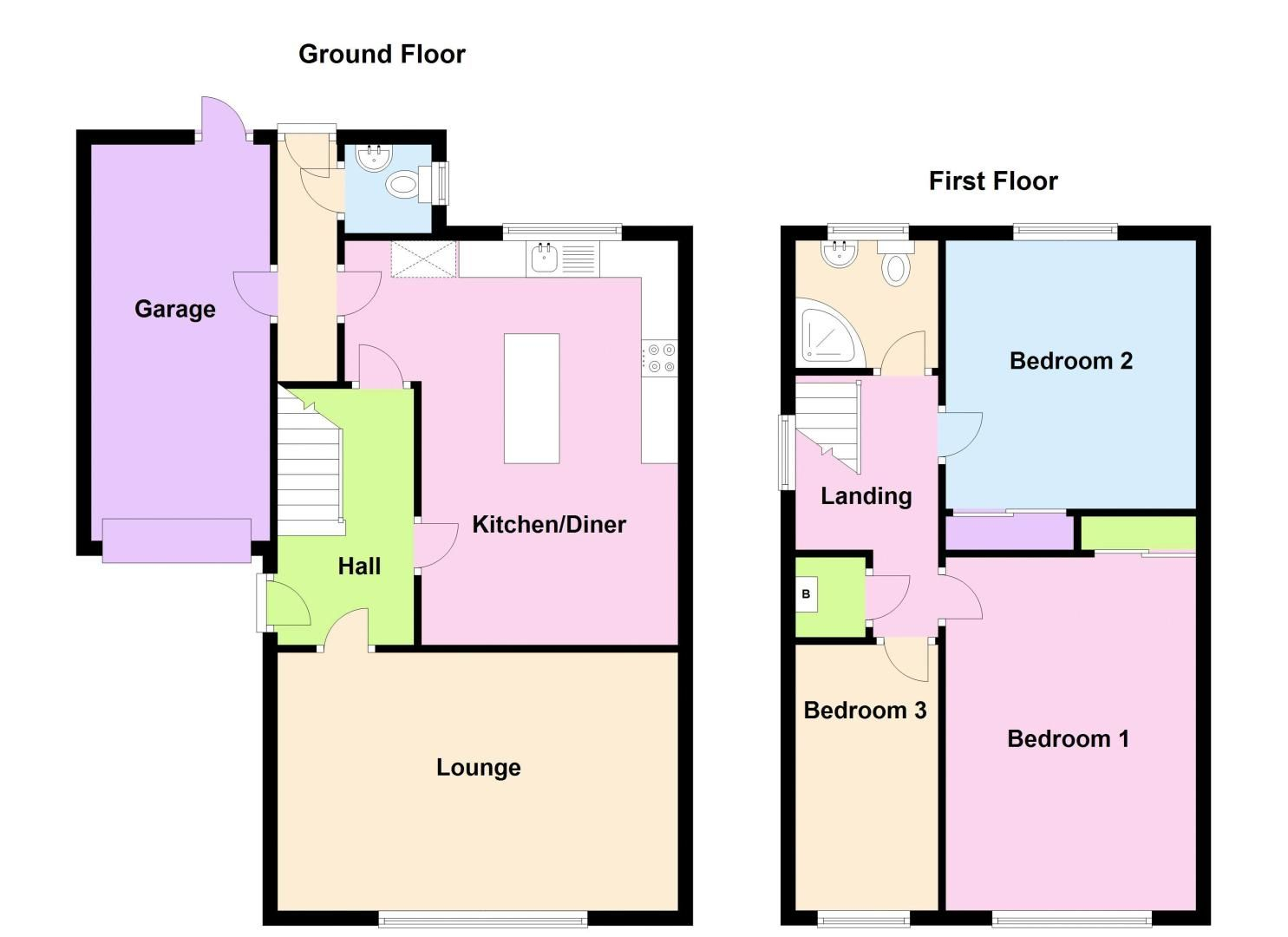3 bed house for sale in Middlefield Avenue - Property Floorplan