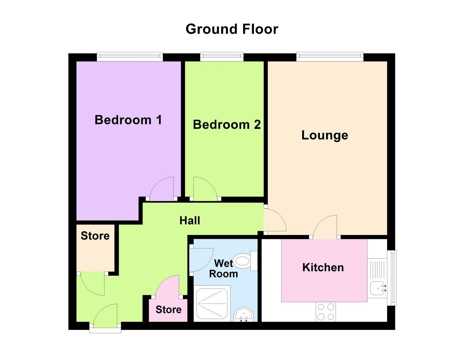 2 bed  for sale in Milton Court, Sandon Road - Property Floorplan