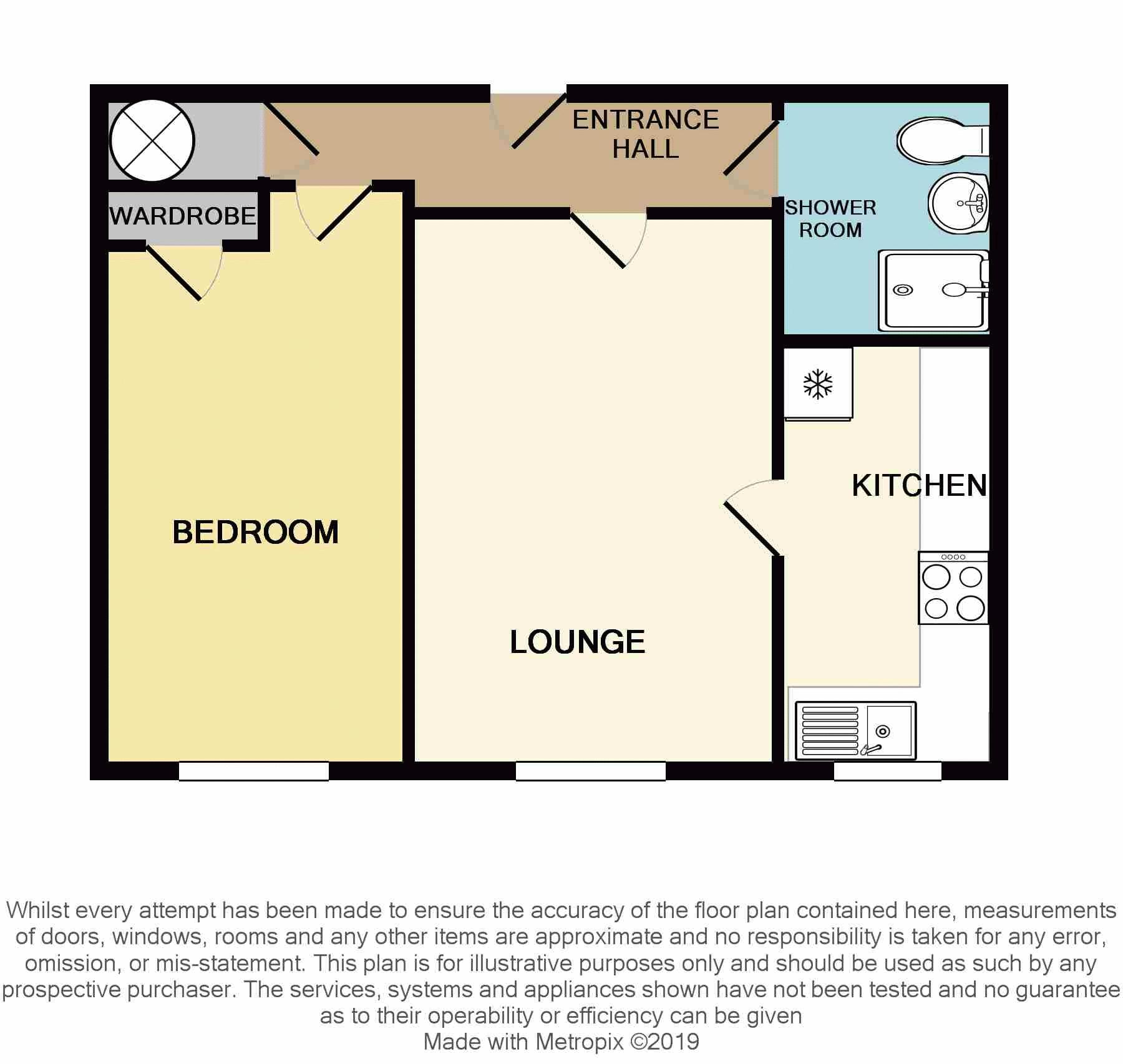 1 bed  for sale in Hagley Road West - Property Floorplan