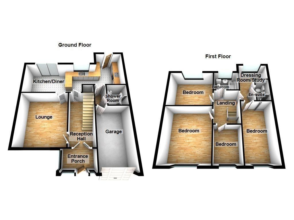 4 bed house for sale in Summerfields Avenue - Property Floorplan