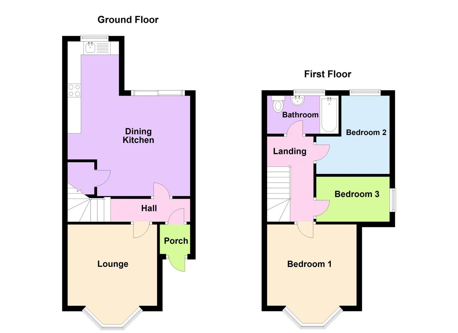 3 bed house for sale in Forest Road - Property Floorplan