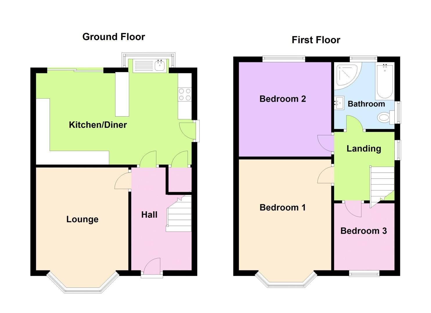 3 bed house for sale in Apsley Road - Property Floorplan