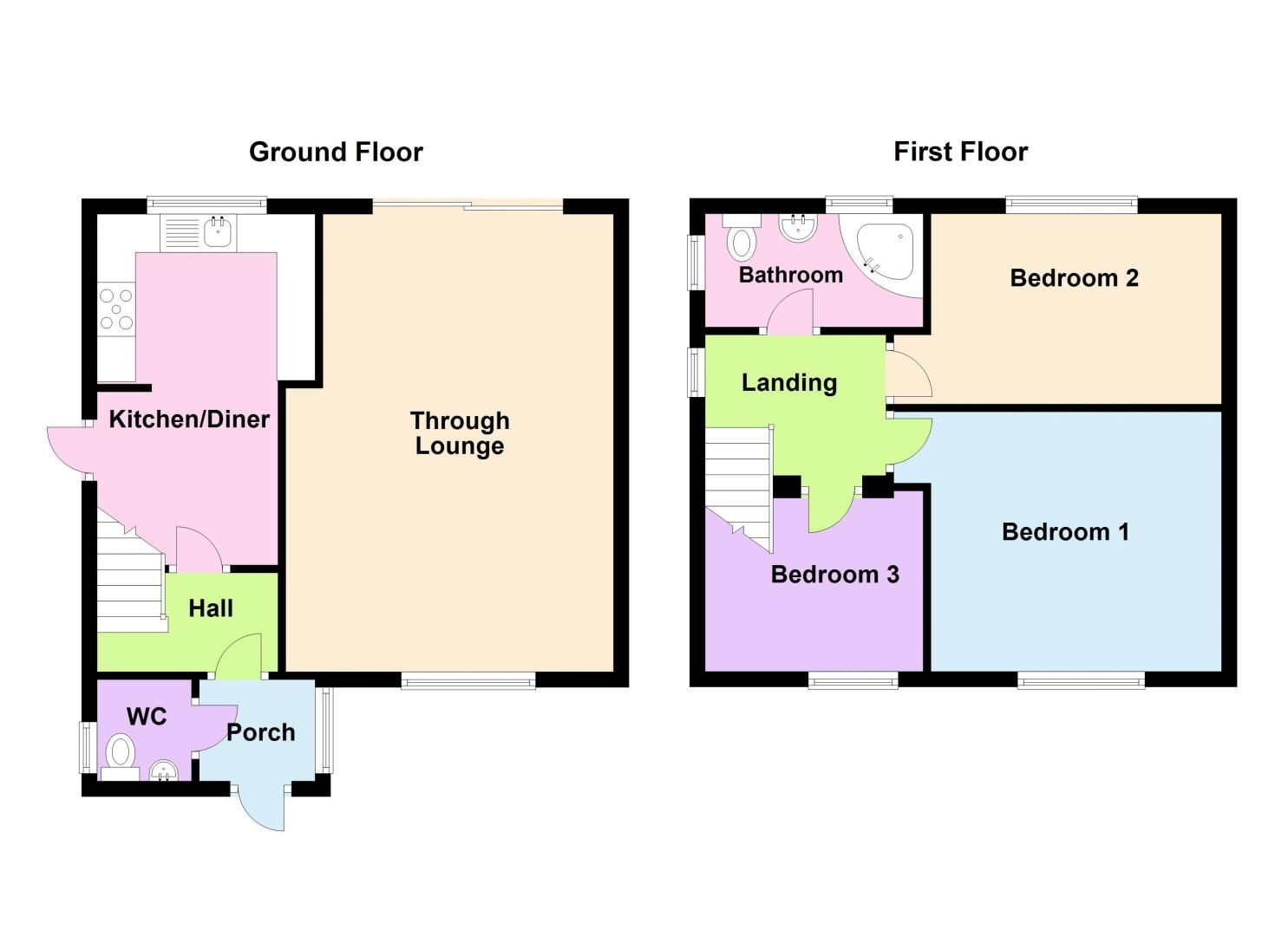 3 bed house for sale in Barnwood Road - Property Floorplan