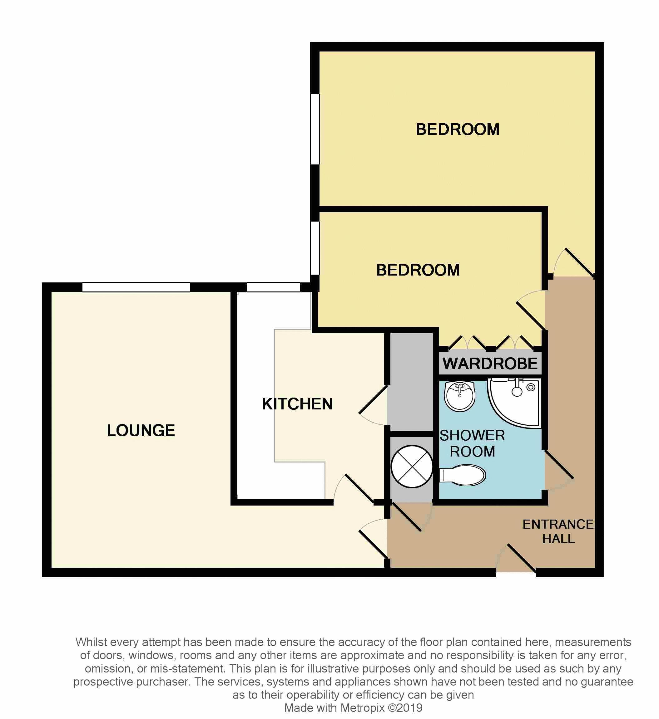 2 bed flat for sale in Sandon Road - Property Floorplan