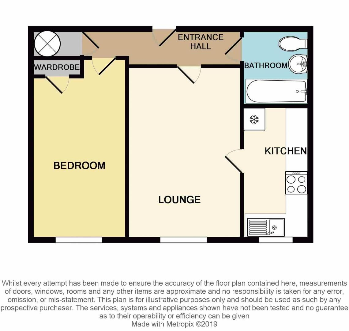 1 bed flat for sale in Hagley Road West - Property Floorplan