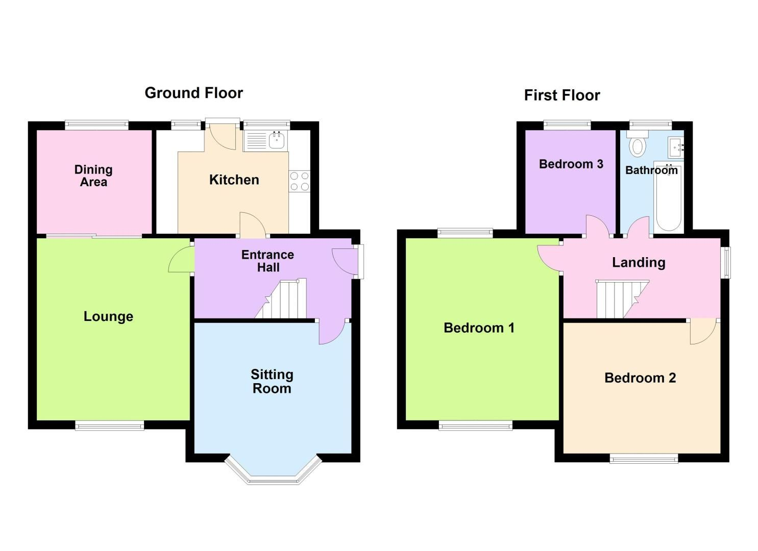 3 bed house for sale in Thimblemill Road - Property Floorplan