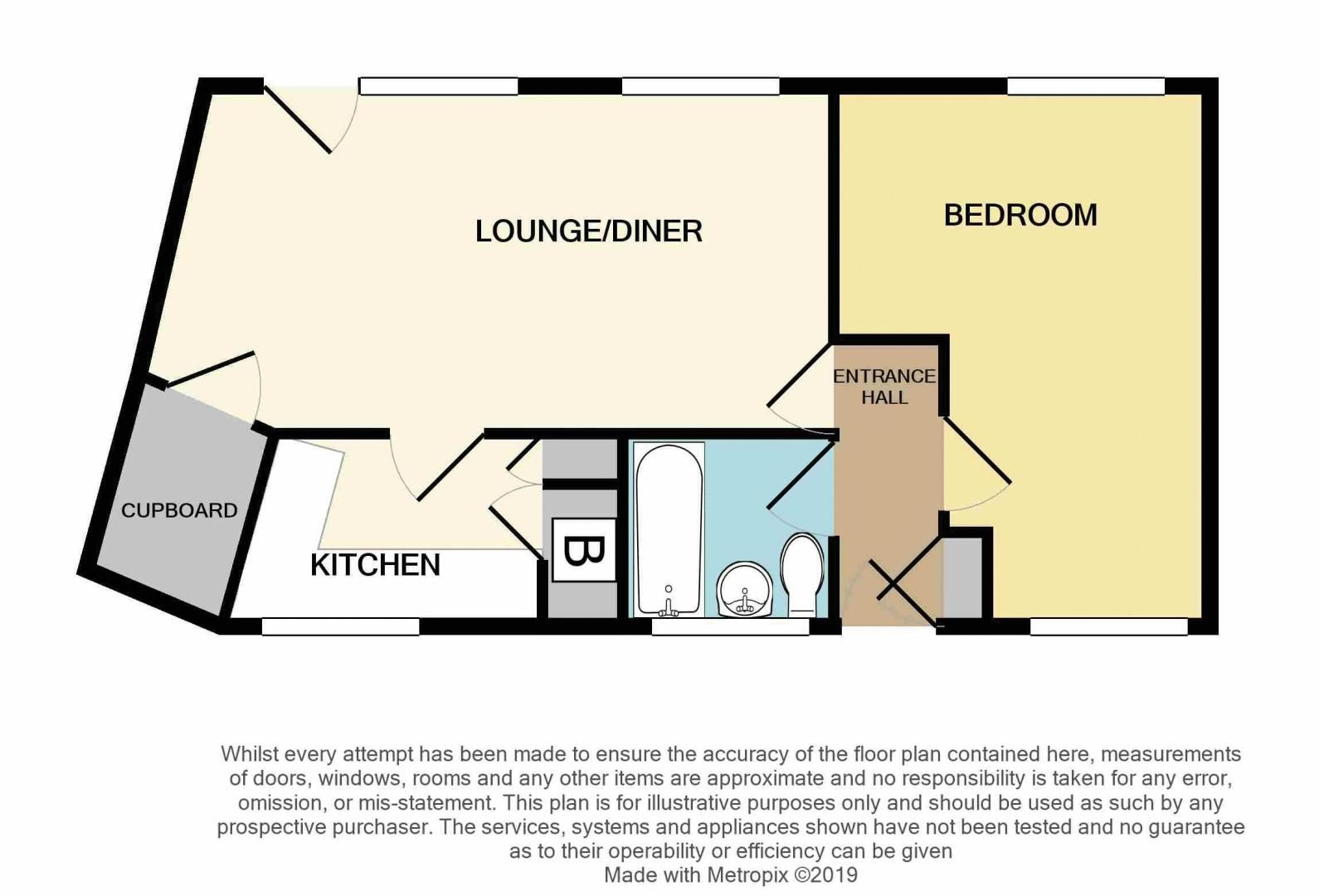 1 bed flat for sale in Gorsly Piece - Property Floorplan