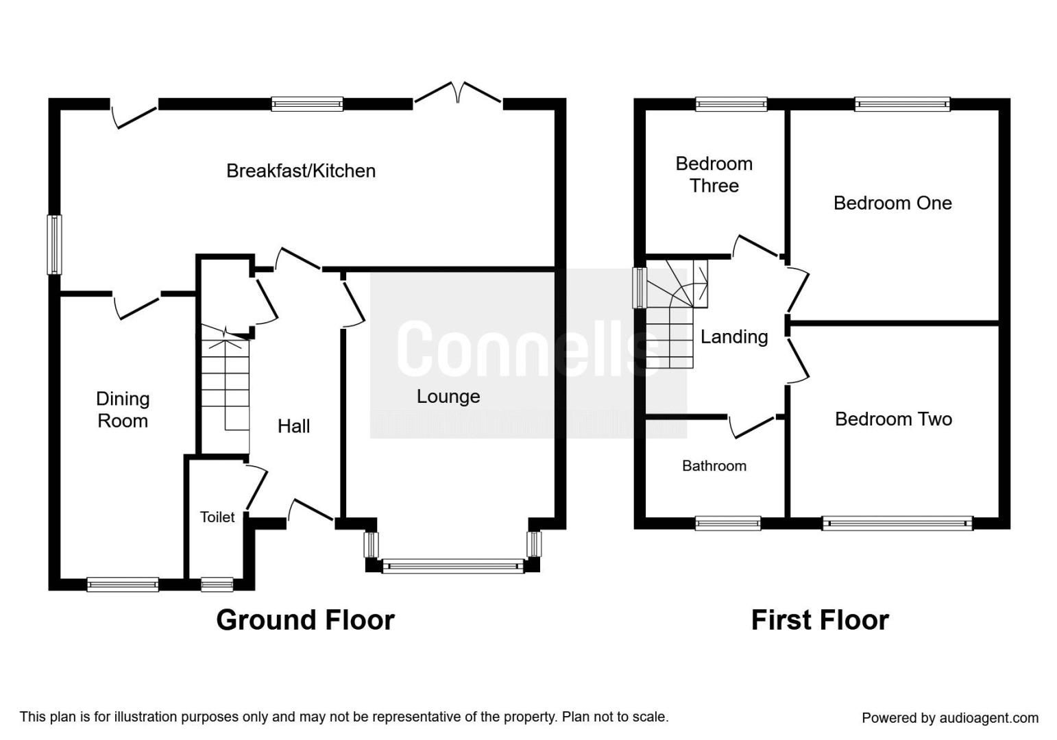 3 bed house for sale in Owens Way - Property Floorplan