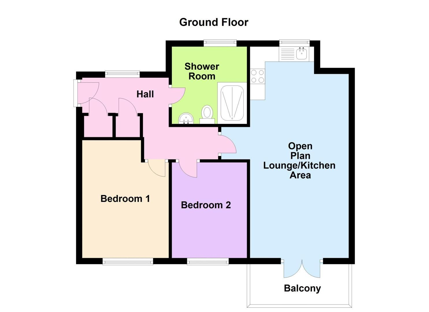 2 bed flat for sale in Kinsey Road - Property Floorplan