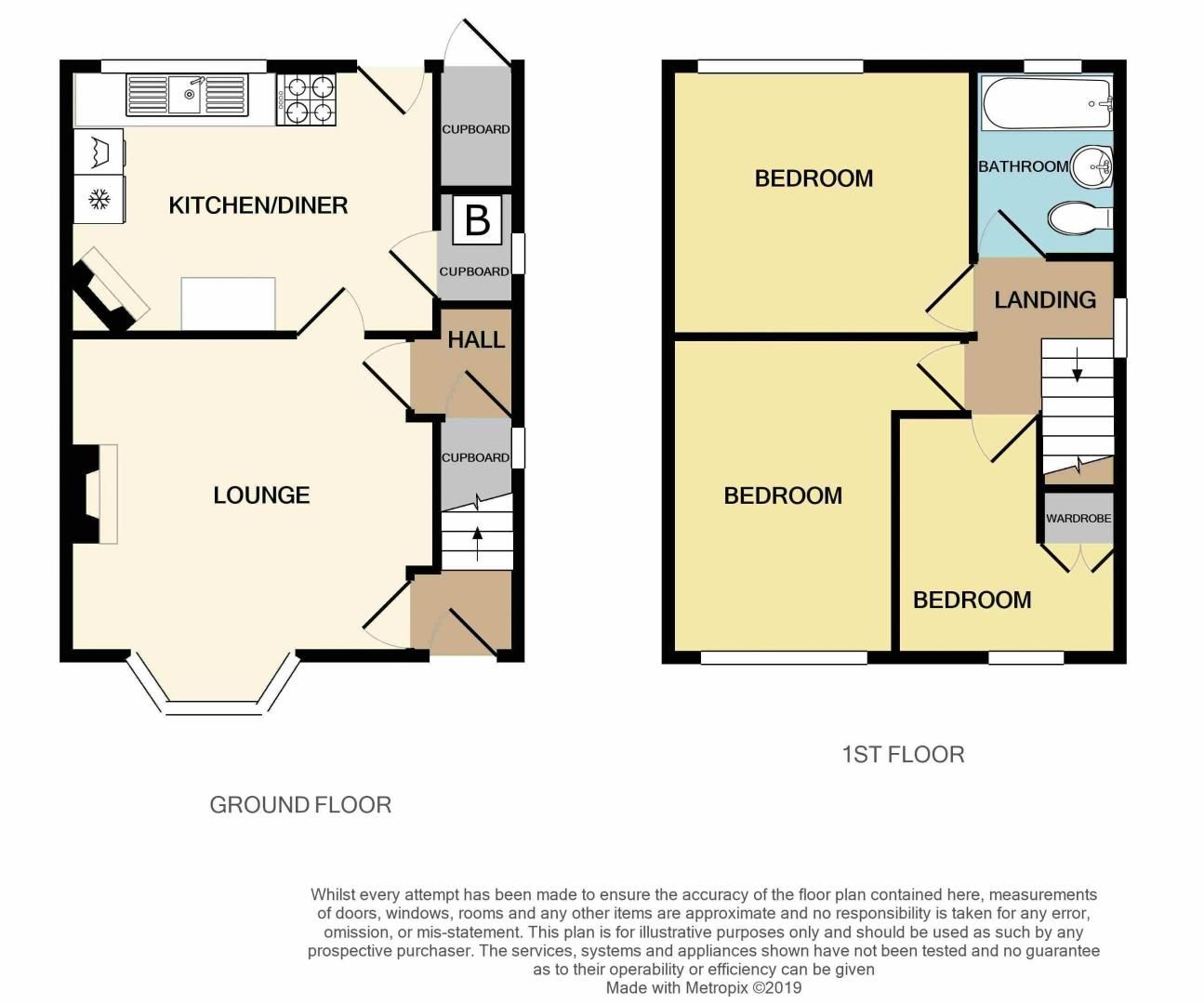 3 bed house for sale in Edmonds Road - Property Floorplan