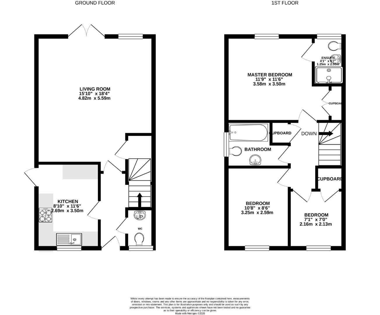 3 bed semi-detached for sale in Warfield - Property Floorplan