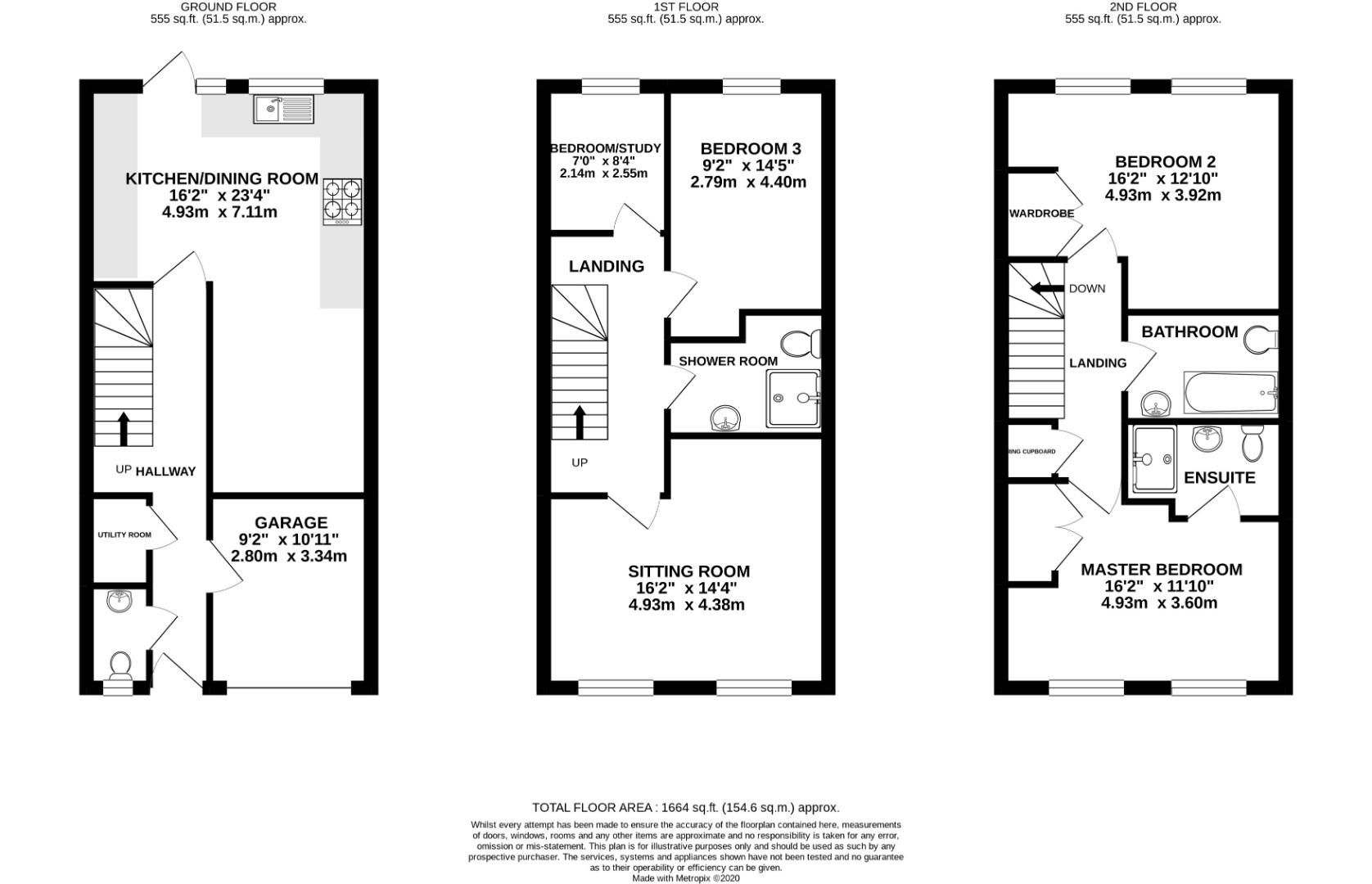 4 bed town house for sale - Property Floorplan