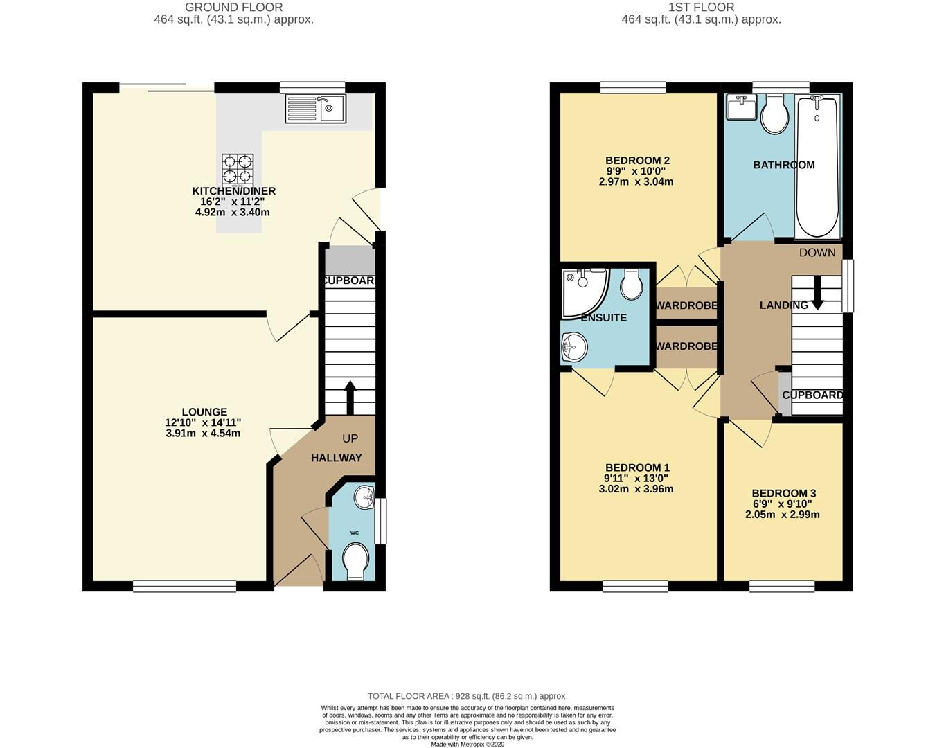 3 bed end of terrace for sale in Earley - Property Floorplan