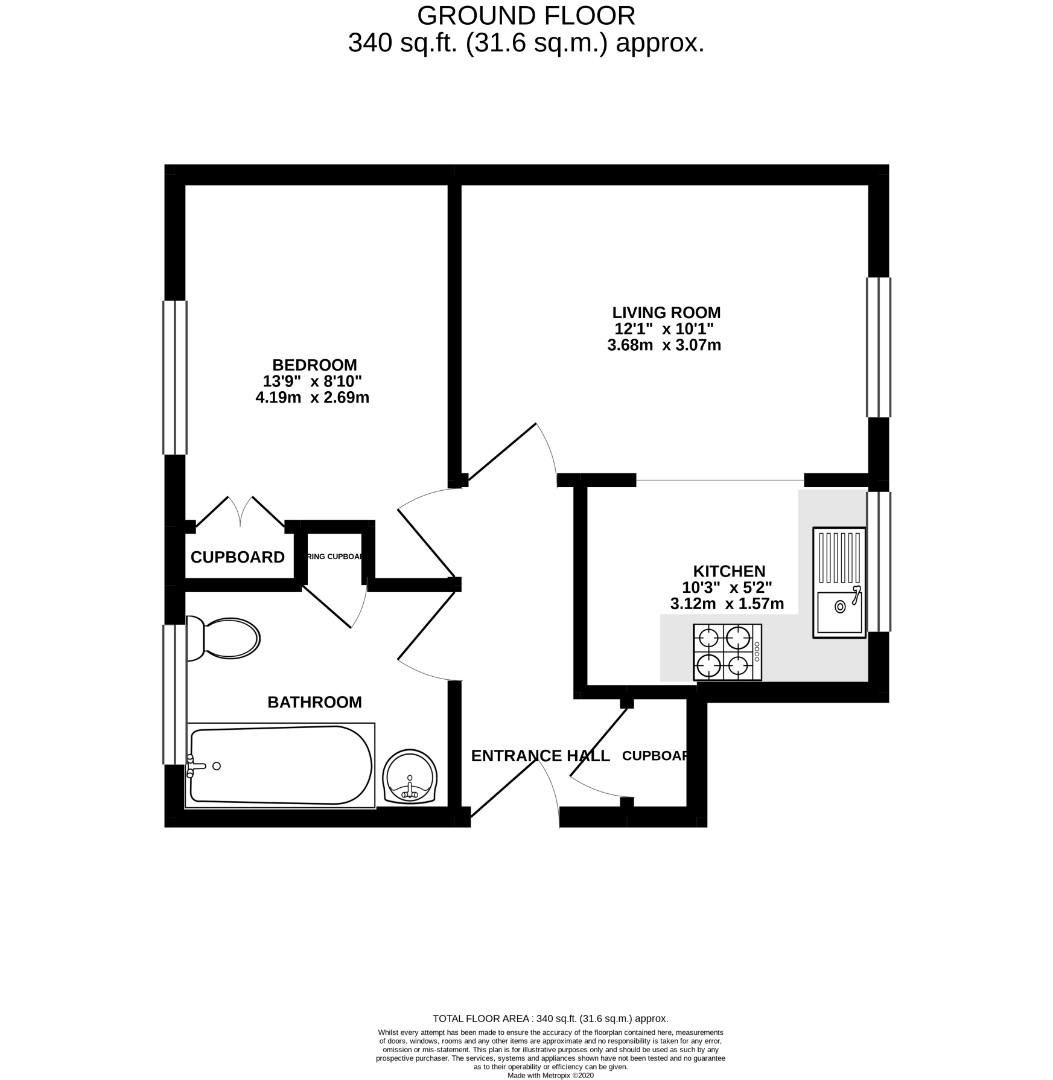 1 bed maisonette for sale in Lower Earley - Property Floorplan