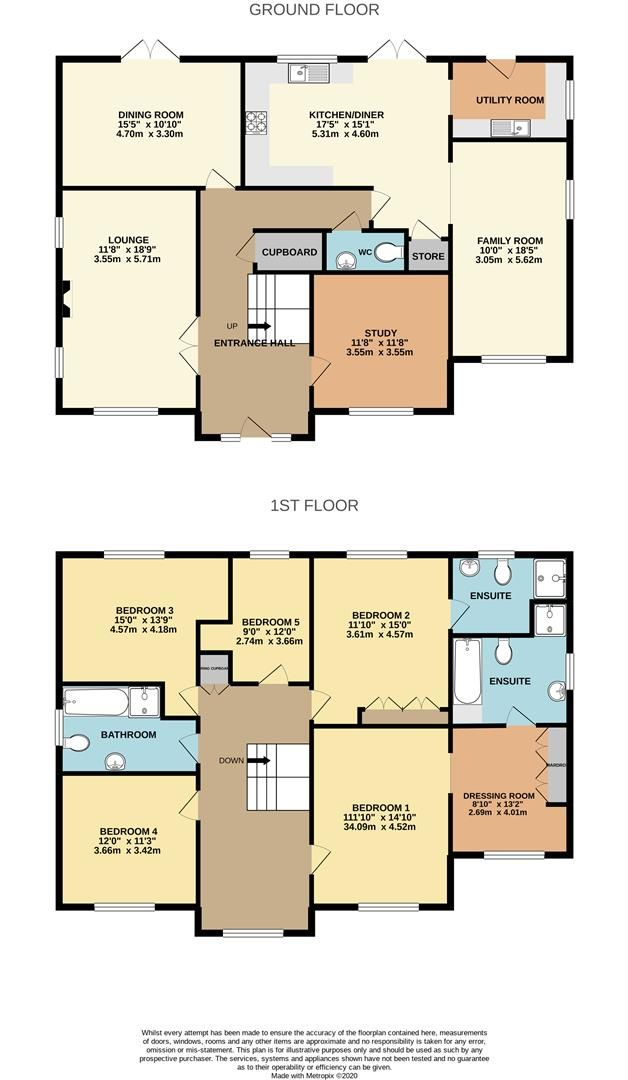 5 bed detached for sale in Shinfield - Property Floorplan
