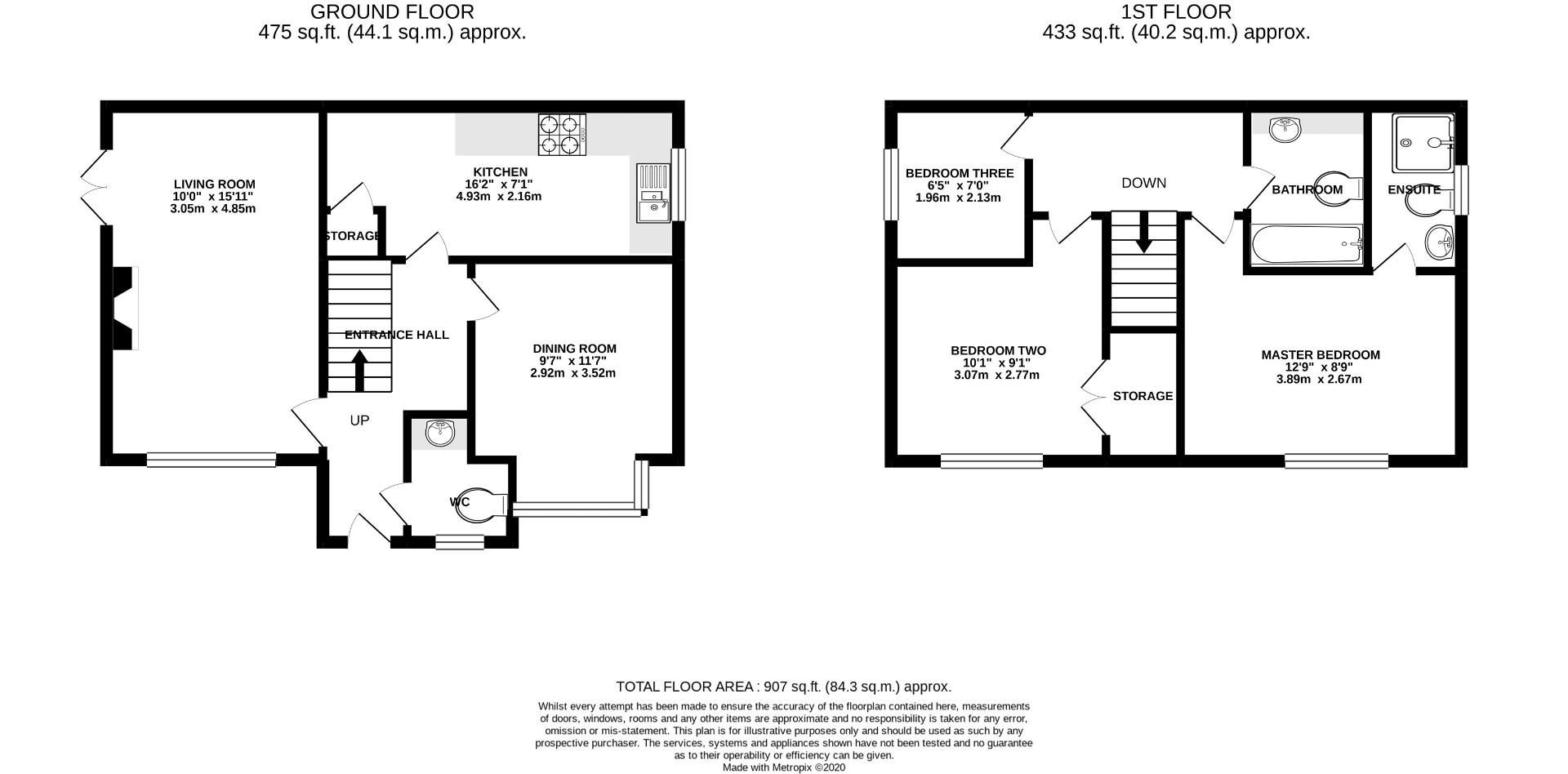 3 bed end of terrace for sale - Property Floorplan