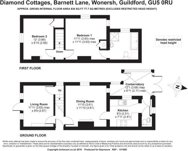 2 bed house for sale in Wonersh - Property Floorplan