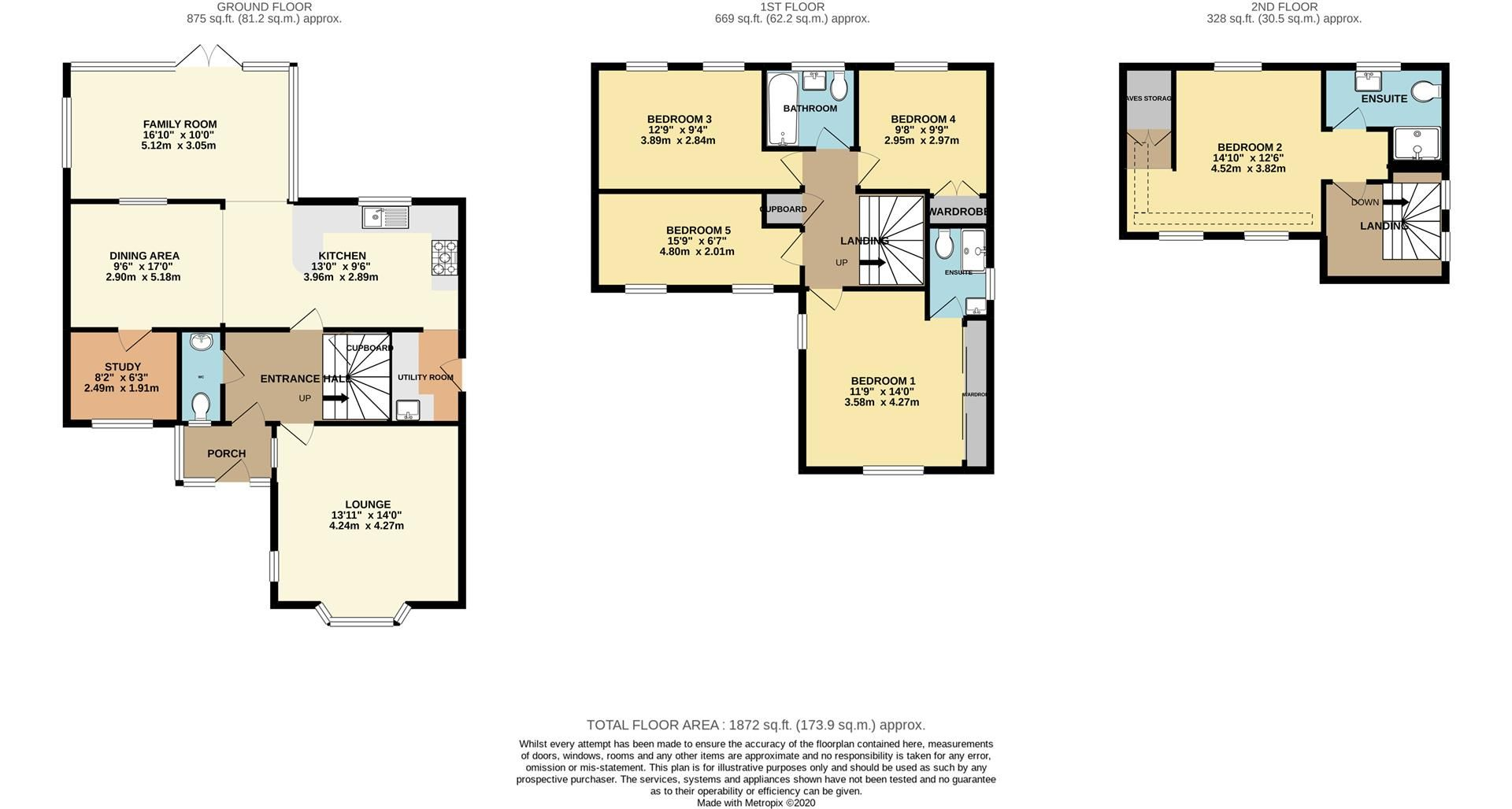 5 bed detached for sale in Woodley - Property Floorplan