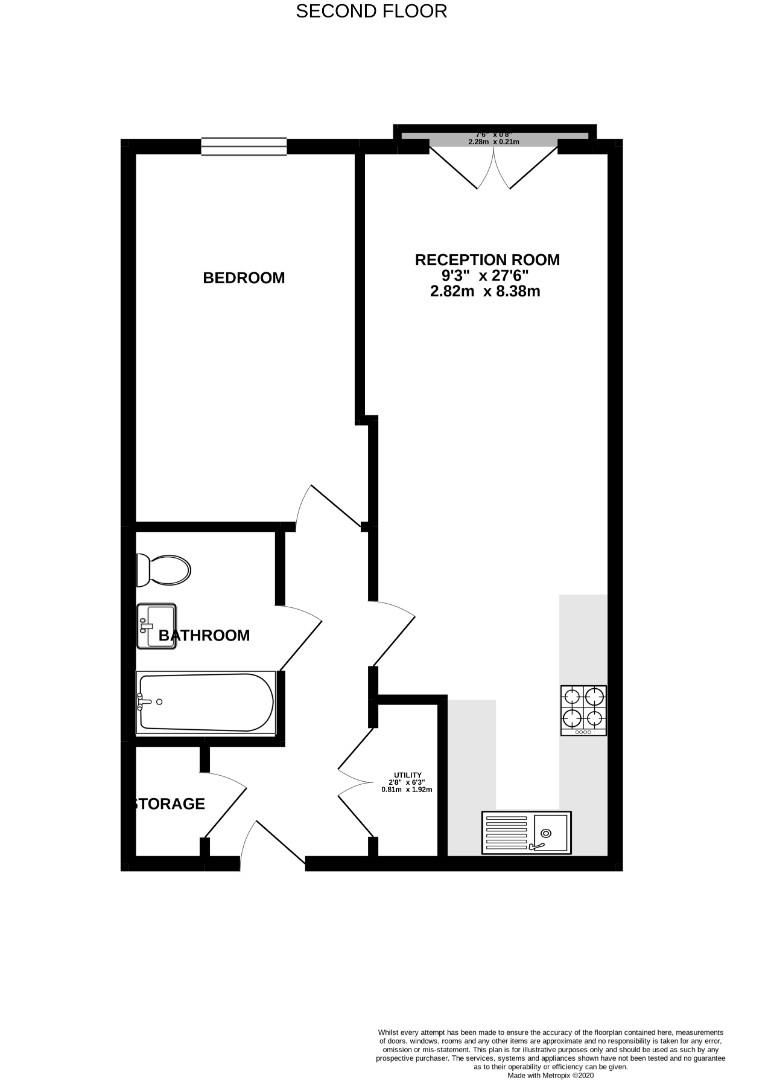 1 bed apartment for sale - Property Floorplan