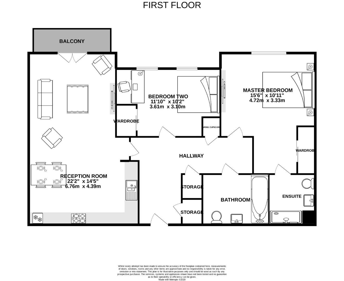 2 bed apartment for sale in London Road - Property Floorplan