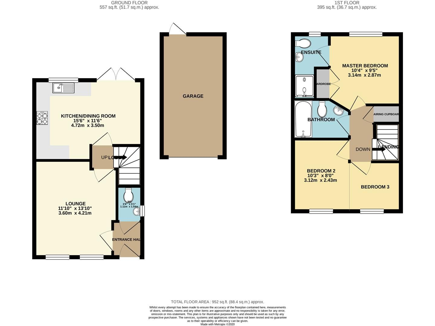 3 bed semi-detached for sale in Shinfield - Property Floorplan