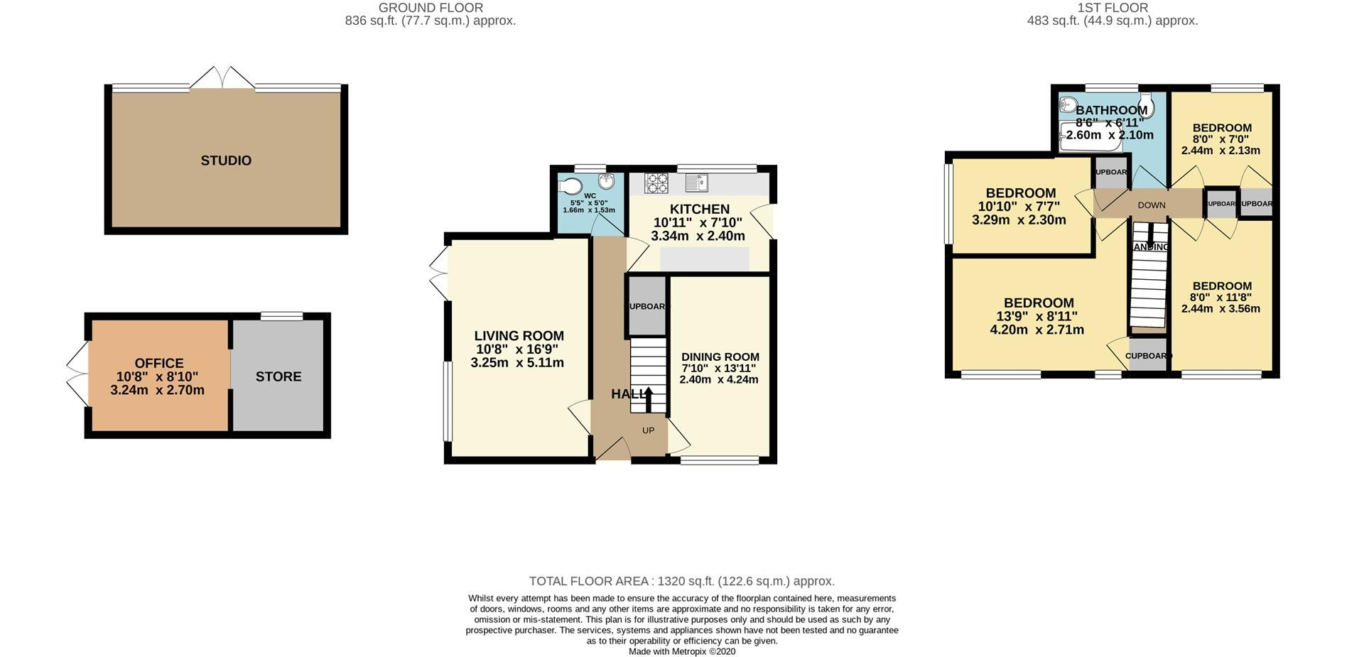 4 bed detached for sale in Charvil - Property Floorplan