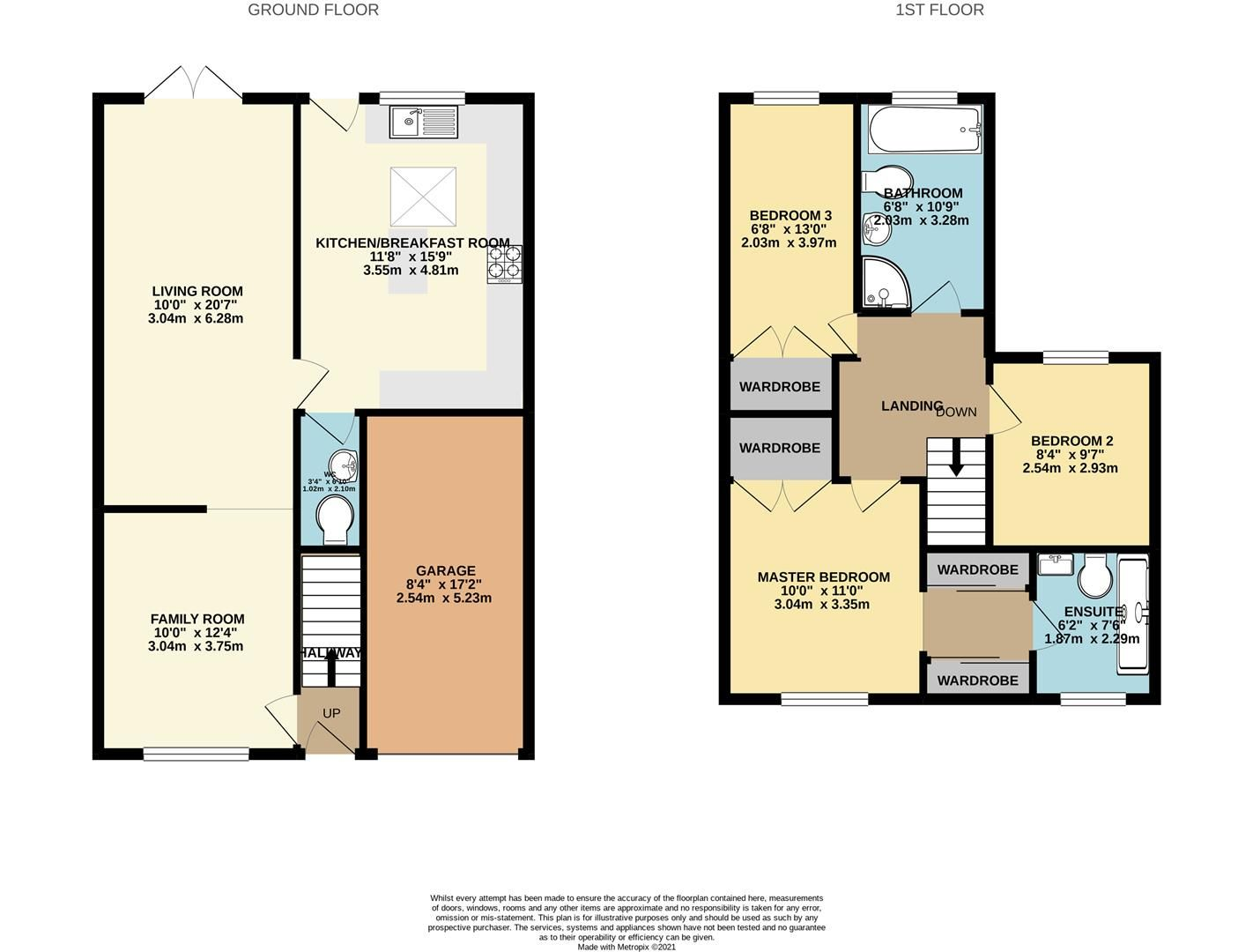 3 bed semi-detached for sale in Woodley - Property Floorplan