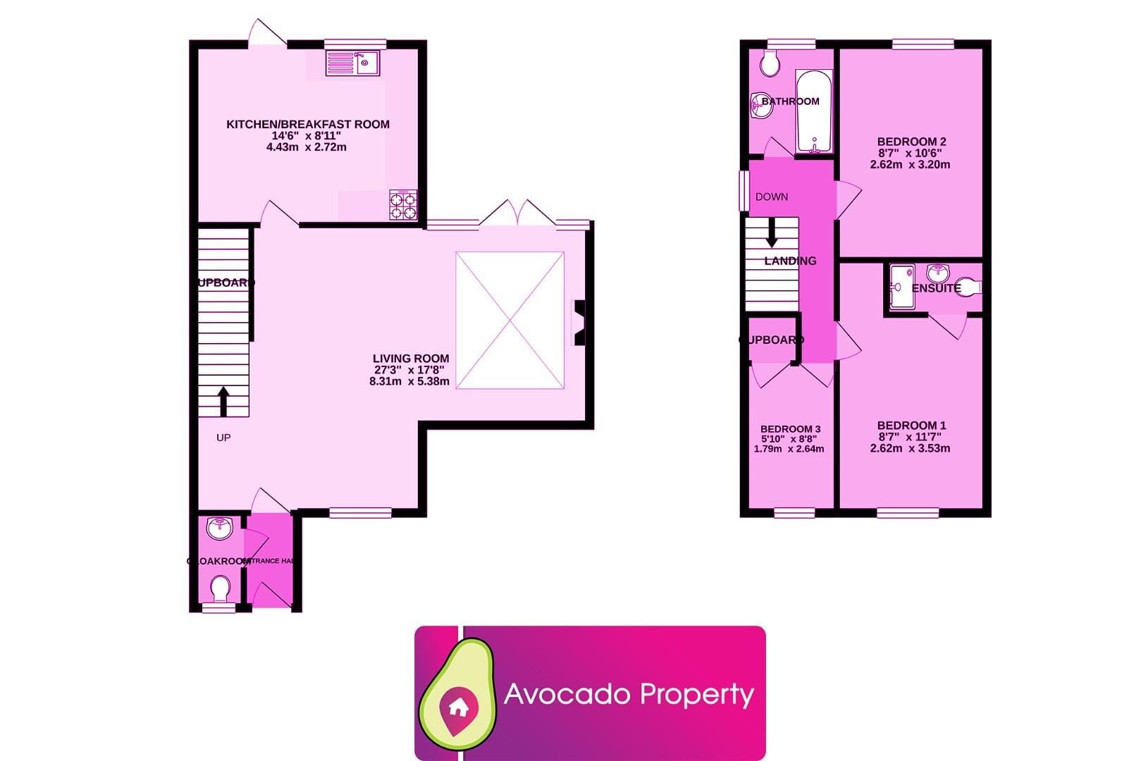 3 bed house for sale in Woodley - Property Floorplan