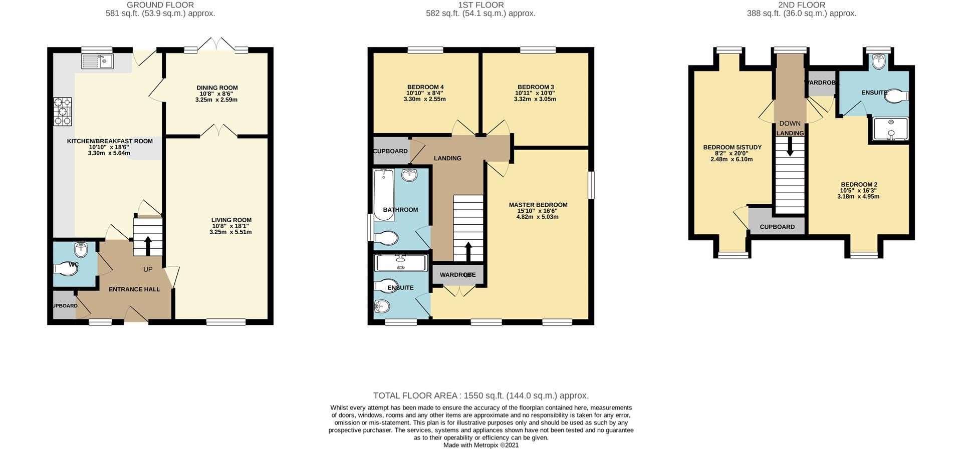 5 bed detached for sale in Three Mile Cross - Property Floorplan