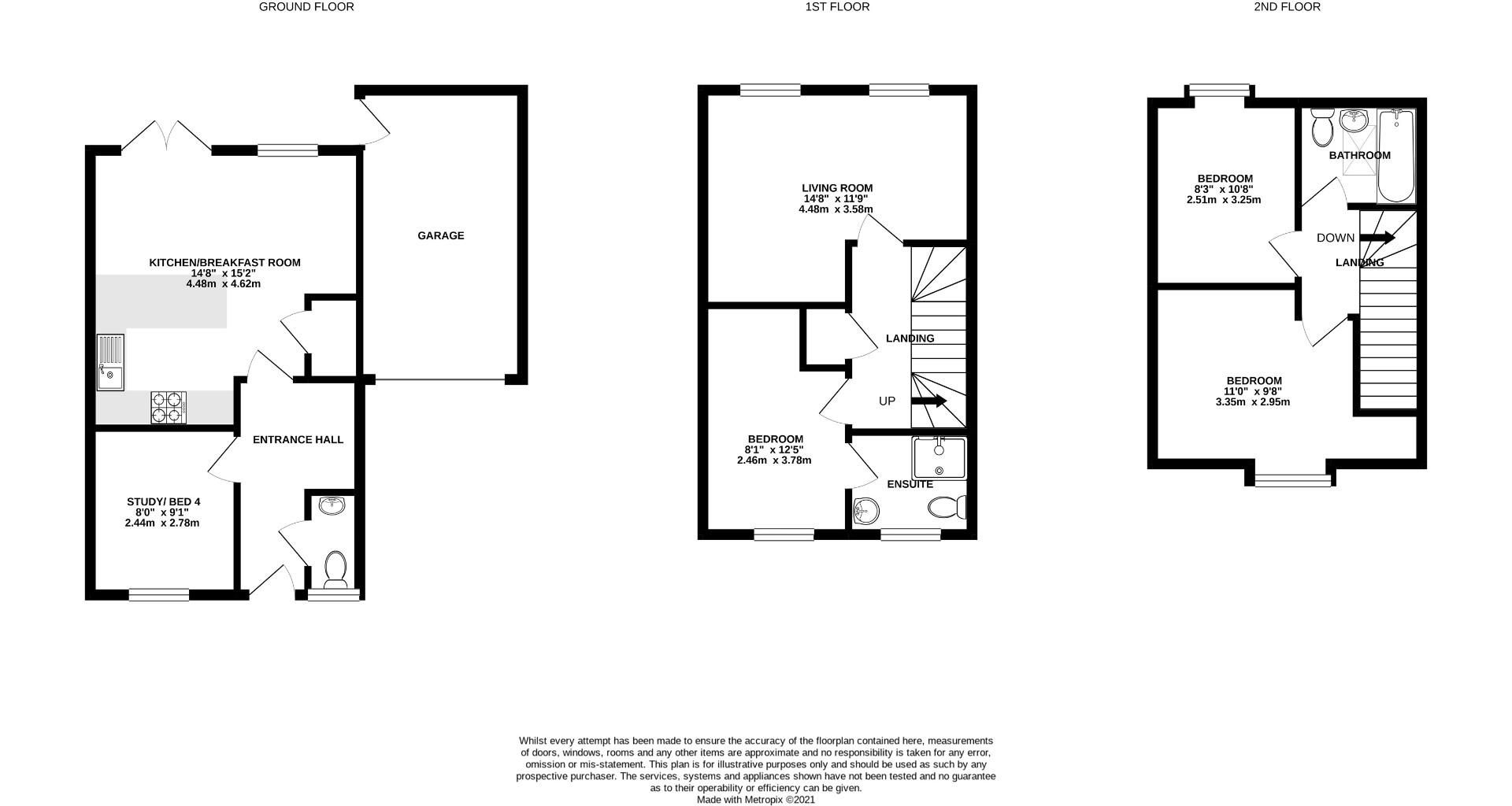 3 bed end of terrace to rent in Shinfield - Property Floorplan
