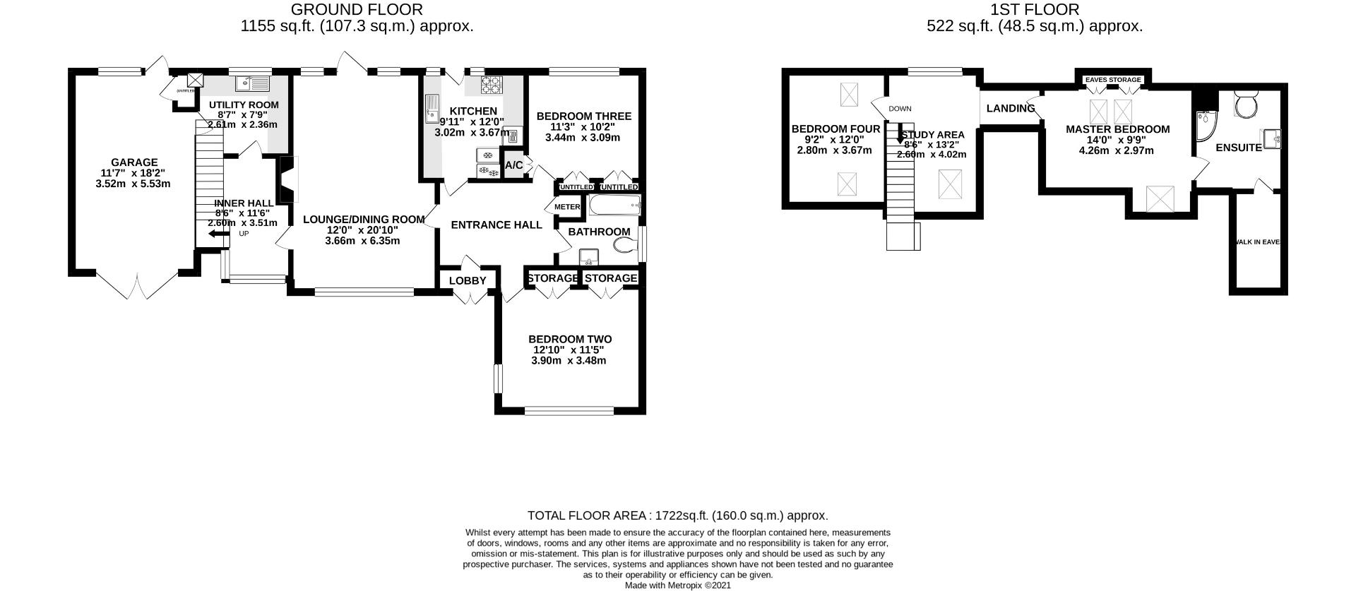 4 bed detached bungalow for sale in Send - Property Floorplan