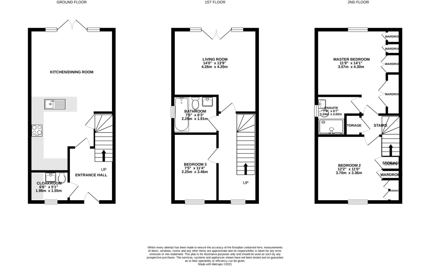 3 bed town house to rent in Shinfield - Property Floorplan