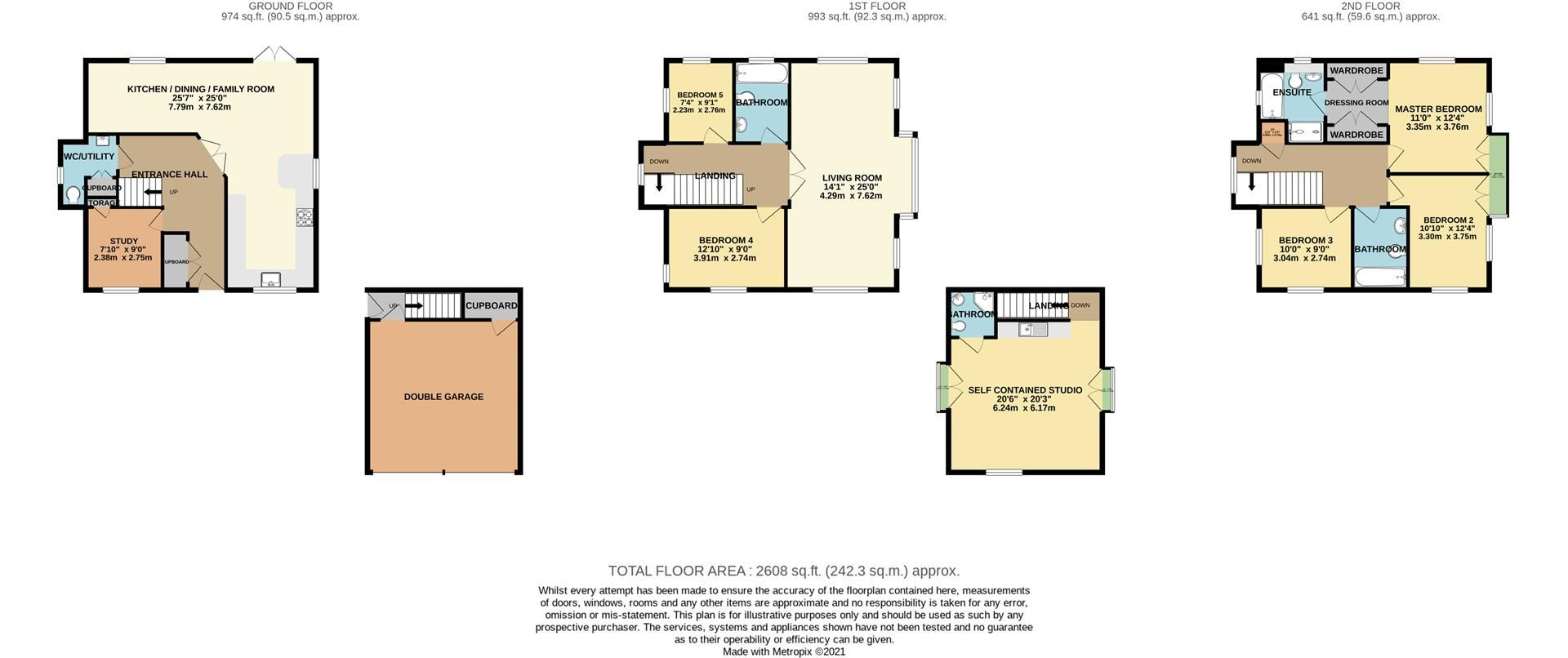 6 bed detached for sale in Lower Earley - Property Floorplan